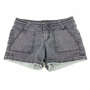 prAna Denim Breathe Tess Shorts Size 2 Black Gray